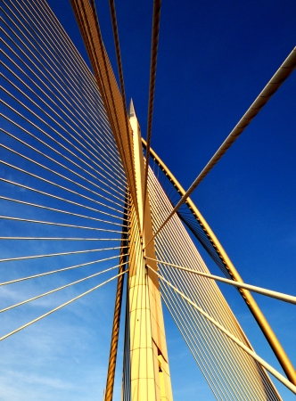 Design and pattern of bridge Stock Photo