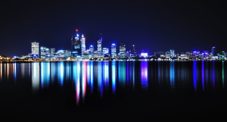 perth: Perth skyline by night