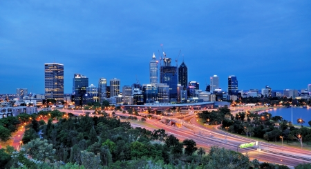 perth: View of Perth Skyline from King s park  Stock Photo