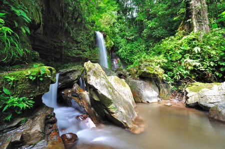 Waterfall in Borneo, Mahua Waterfall in Tambunan Kinabalu National Park