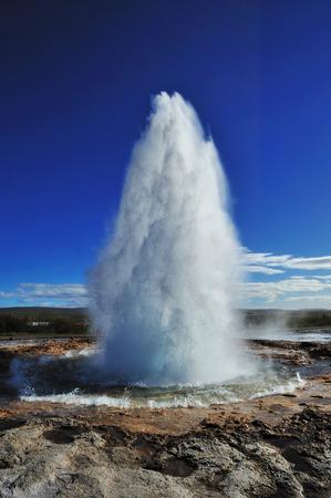 breakout: Eruption of Strokkur Geyser in Iceland
