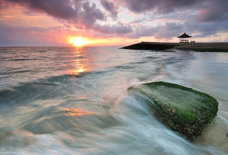 sanur: Sanur beach sunrise in Bali Indonesia