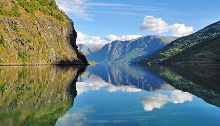 scandinavian peninsula: Scenic view of Fjord in Norway