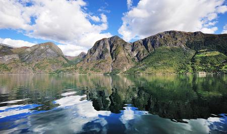scandinavian peninsula: Scenic view of Norwegian fjord, Norway.