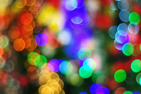 Abstract Christmas tree light background photo