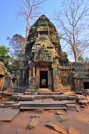 phrom: Ta Phrom Temple, Siem Reap Cambodia.