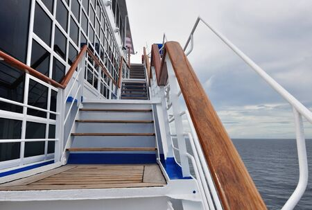Stairway on a cruise ship photo