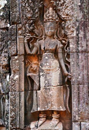 apsara: Apsara dancing Stone Carving, Angkor Wat, Cambodia