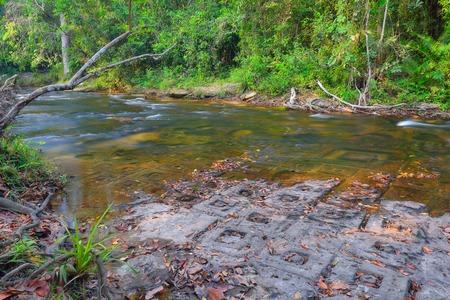 linga: River of thousand lingas Siem Reap Cambodia.