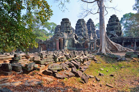 siem reap: Banteay Kdei Temple Angkor wat Siem Reap Cambodia. Stock Photo