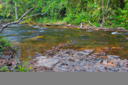 linga: River of thousand lingas in Siem Reap, Cambodia.