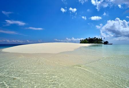 tun: Idyllic and remote Sibuan Island, small tropical island in Tun Sakaran Marine Park, Semporna, Sabah Borneo, Malaysia. Stock Photo