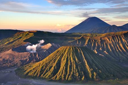 Sunrise Mount Bromo Tengger Semeru National park, Indonesia. Stock Photo