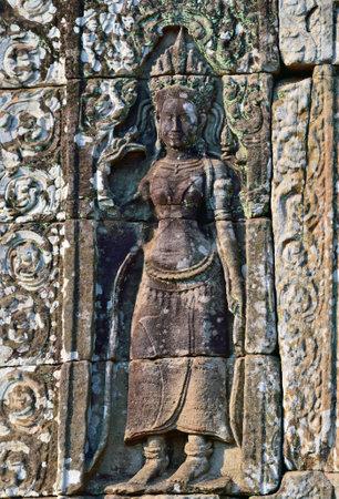 apsara: Apsara in Bayon Temple, Angkor Wat, Cambodia