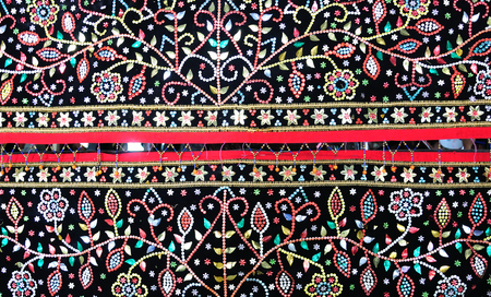 Langkit embroidery from the Dusun Tindal tribe in Sabah Borneo Malaysia.