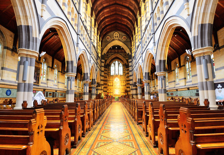 st pauls: MELBOURNE, AUSTRALIA - OCTOBER 25, 2015: Interior design of St Pauls Cathedral. The cathedral is a major landmark and iconic building in Melbourne. Editorial