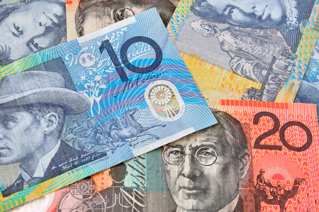 australian dollars: A close-up photograph of Australian dollars
