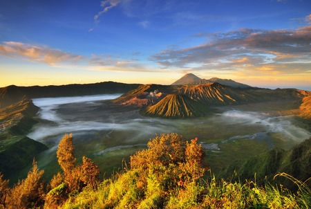 Mount Bromo sunrise, Eastjava, Indonesia. Stock fotó