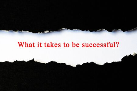opportunity discovery: What it takes to be successful concept phrase under torn paper