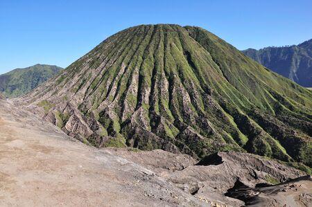 tengger: View of Mount Batok in Bromo Tengger Semeru national park, East java Indonesia. Stock Photo