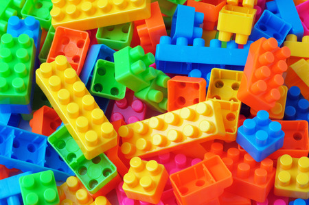 colorful toy block building