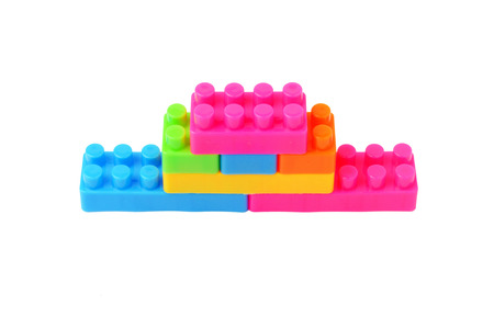 toy block: Colorful toy block building