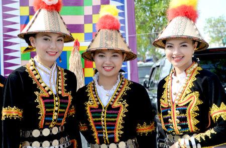 KOTA KINABALU, MALAYSIA - MAY 31, 2016: Malaysian women from ethnic Kadazan in traditional costume during Sabah Harvest festival celebration in Kota Kinabalu, Sabah Borneo, Malaysia.