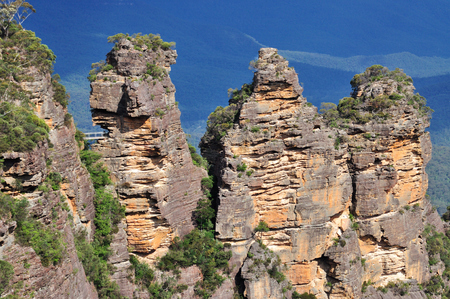 new south wales: The three sisters in Blue Mountains, New South Wales, Australia.