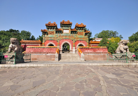 CHENGDE, CHINA - SEPTEMBER 20, 2009:Exterior of The Putuo Zongcheng Temple is a Buddhist temple group established in Qing Dynasty, located at the north of the Chengde Mountain Resort.