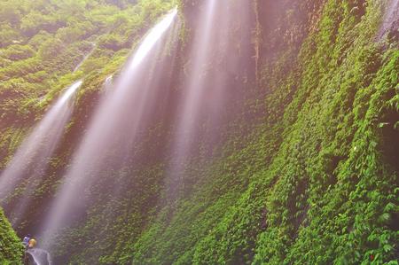 Madakaripura Waterfall in Bromo Java Indonesia. Stock Photo