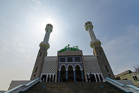 Seoul, South Korea - April 07, 2017: The Seoul Central Mosque is the only mosque in Seoul. Located in Itaewon town, one of the most ethnically diverse regions in Korea. Editorial