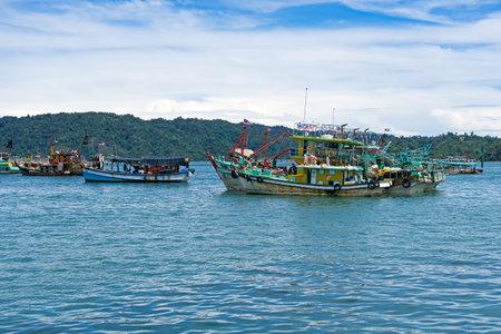Trawlers fishing boat  in Kota Kinabalu Sabah Borneo Malaysia.