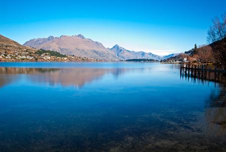 Beautiful view of lake Wakatipu in Queenstown, South Island, New Zealand.