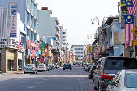 Ipoh, Malaysia - September 17, 2017: Traffic and street view at Little India in Ipoh, capital city of Perak. Editorial