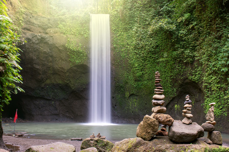 Beautiful Tibumana waterfall in Bangli, Bali Indonesia