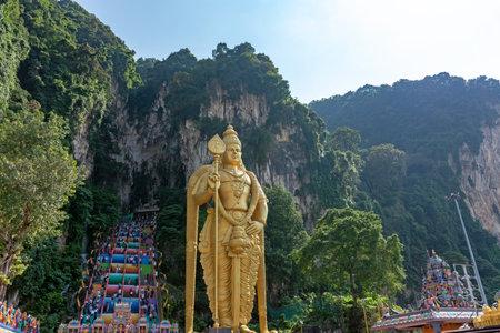 Templo de las cuevas de Batu en Kuala Lumpur, Malasia
