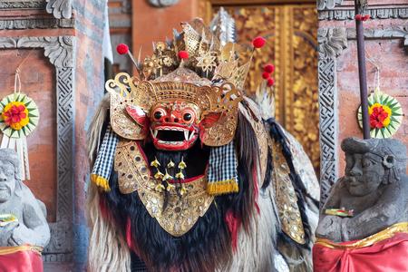 Barong dance performance, Balinese traditional dancing.