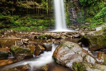 Mahua Waterfall in Crocker Range National Park Tambunan Sabah Borneo Malaysia