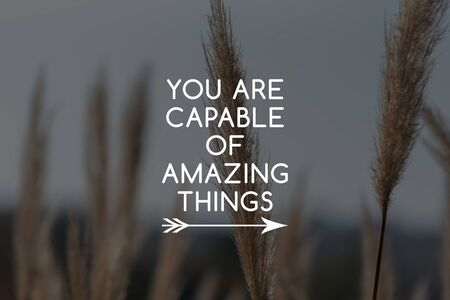Inspirational quotes - You are capable of amazing things. Imagens - 139892421