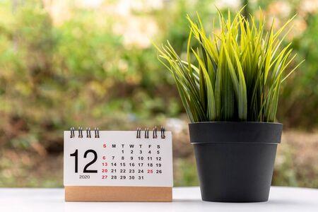 December 2020 calendar grey backgrounds Imagens