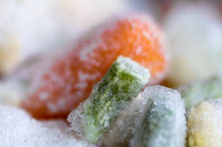 The macro shot of frozen vegetables Standard-Bild
