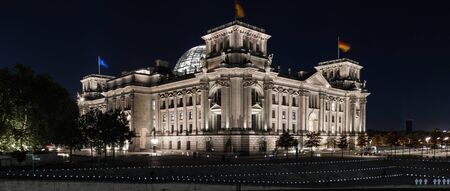 The German parliament Reichstag at night
