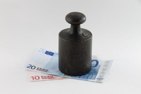The Euro under pressure Stock Photo - 13555070