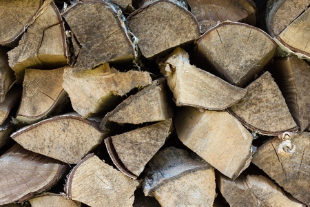 Pile of wood Standard-Bild