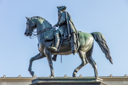 Statue of king Frederick II in Berlin Stock Photo