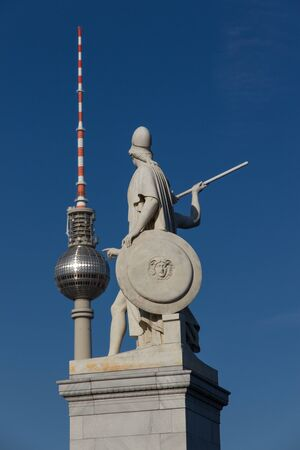 Ancient warriors seems to touch the ball of Berlin