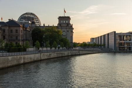 The Reichstag and other buildings of the German parliament Standard-Bild