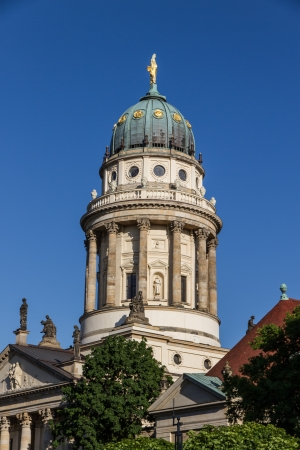 The French Cathedral  is one of the famous buildings of Gendarmenmarkt Standard-Bild