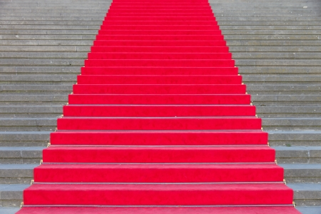 Red carpet on the steps of a theater in Berlin photo