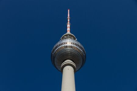 Upper part of the television tower in Berlin in detail